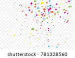 colourful random explosion of... | Shutterstock .eps vector #781328560