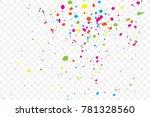 colourful random explosion of... | Shutterstock .eps vector #781328560