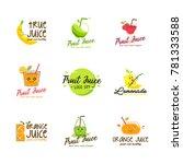 fruit juice logo vector | Shutterstock .eps vector #781333588