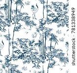 bamboo vector japanese pattern... | Shutterstock .eps vector #781338949