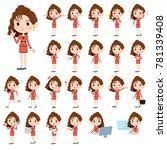 90's fashion women_1 | Shutterstock .eps vector #781339408