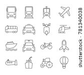 transport icon set | Shutterstock .eps vector #781340038