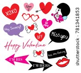 cute doodle valentine stuff | Shutterstock .eps vector #781341853