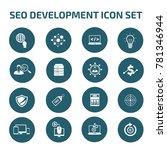 seo development icon set vector | Shutterstock .eps vector #781346944