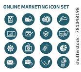 online marketing icon set vector | Shutterstock .eps vector #781348198