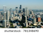 aerial view of the seattle ... | Shutterstock . vector #781348690