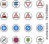 line vector icon set   sign... | Shutterstock .eps vector #781358860
