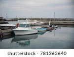 empty yachts and boats at pier...   Shutterstock . vector #781362640