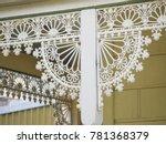 close up of cast iron lacework... | Shutterstock . vector #781368379