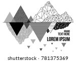 vector mountain t shirt design... | Shutterstock .eps vector #781375369