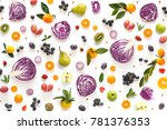 composition pattern made from... | Shutterstock . vector #781376353