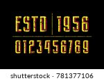 decorative numbers with...   Shutterstock .eps vector #781377106