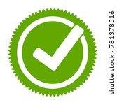 green approved star sticker....   Shutterstock .eps vector #781378516