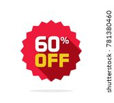 sale tag vector badge template  ... | Shutterstock .eps vector #781380460