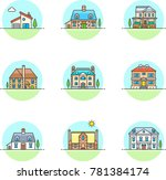 real estate construction ... | Shutterstock .eps vector #781384174