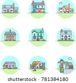 real estate construction ... | Shutterstock .eps vector #781384180