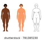 african and european women.... | Shutterstock .eps vector #781385230