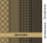 set of art deco seamless... | Shutterstock .eps vector #781387654