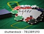 an concept image of a poker... | Shutterstock . vector #781389193