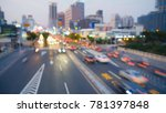 city night view  out of focus. | Shutterstock . vector #781397848