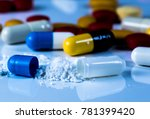 close up view of drug powder of ...   Shutterstock . vector #781399420
