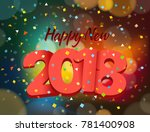 happy new 2018 year. greeting... | Shutterstock .eps vector #781400908