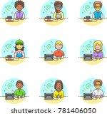 video games  multicolor icon set | Shutterstock .eps vector #781406050
