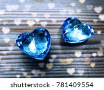 crystal gem two sapphire hearts ... | Shutterstock . vector #781409554