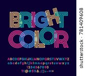 colorful logo with text bright... | Shutterstock .eps vector #781409608