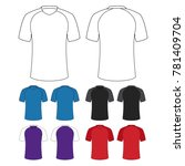 jersey kit design template... | Shutterstock .eps vector #781409704
