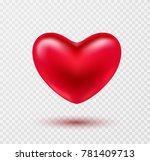 heart valentines red ballon... | Shutterstock .eps vector #781409713