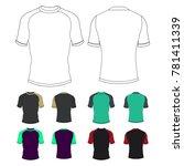 rashguard short sleeve template ...   Shutterstock .eps vector #781411339