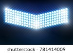 bright stadium arena lights... | Shutterstock .eps vector #781414009