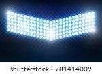 bright stadium arena lights...   Shutterstock .eps vector #781414009
