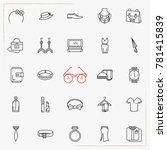 fashion line icons set | Shutterstock .eps vector #781415839