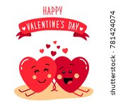 cute holiday valentines day... | Shutterstock .eps vector #781424074