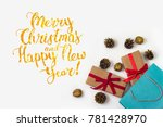 picture of gifts with red... | Shutterstock . vector #781428970