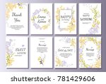 Set Of Card With Yellow Wild...