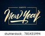 vector illustration. golden... | Shutterstock .eps vector #781431994
