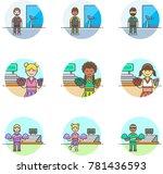 sports  multicolor icon set | Shutterstock .eps vector #781436593
