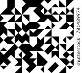 black and white  abstract... | Shutterstock .eps vector #781439974