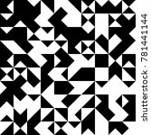 black and white  abstract... | Shutterstock .eps vector #781441144
