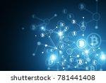 abstract bitcoin backdrop.... | Shutterstock . vector #781441408