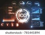 creative glowing ico backdrop.... | Shutterstock . vector #781441894