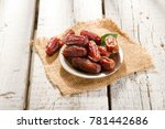 dried raw organic medjool date... | Shutterstock . vector #781442686