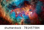 colorful deep space. universe... | Shutterstock . vector #781457584