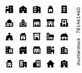 buildings vector icons 2 | Shutterstock .eps vector #781461460