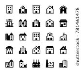 buildings glyph icons 1 | Shutterstock .eps vector #781461478