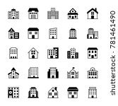 buildings solid vector icons 3 | Shutterstock .eps vector #781461490