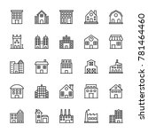 buildings vector line icons 1 | Shutterstock .eps vector #781464460